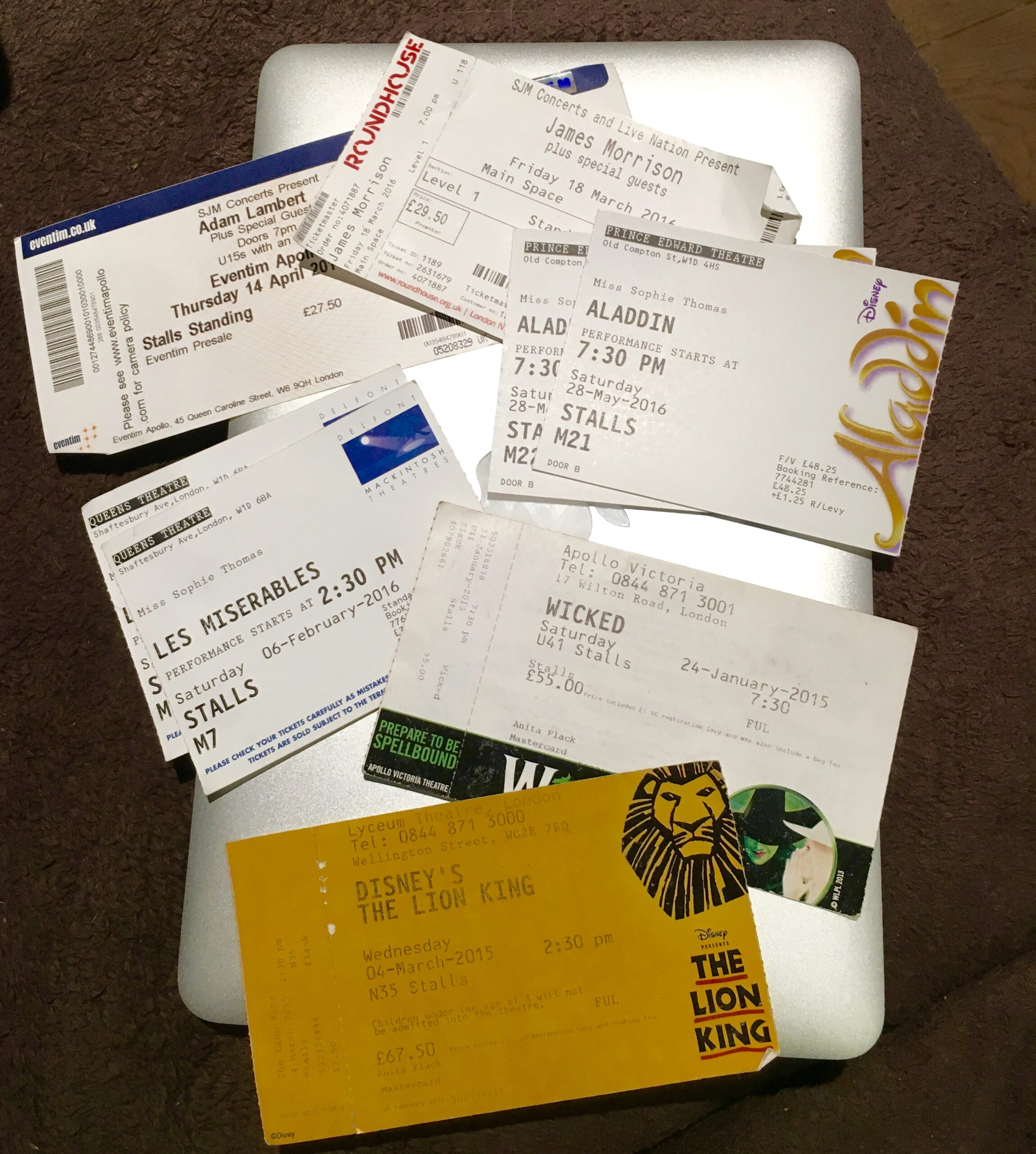 What's in My Bag - Tickets