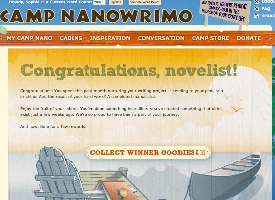 Camp Nano - Winner