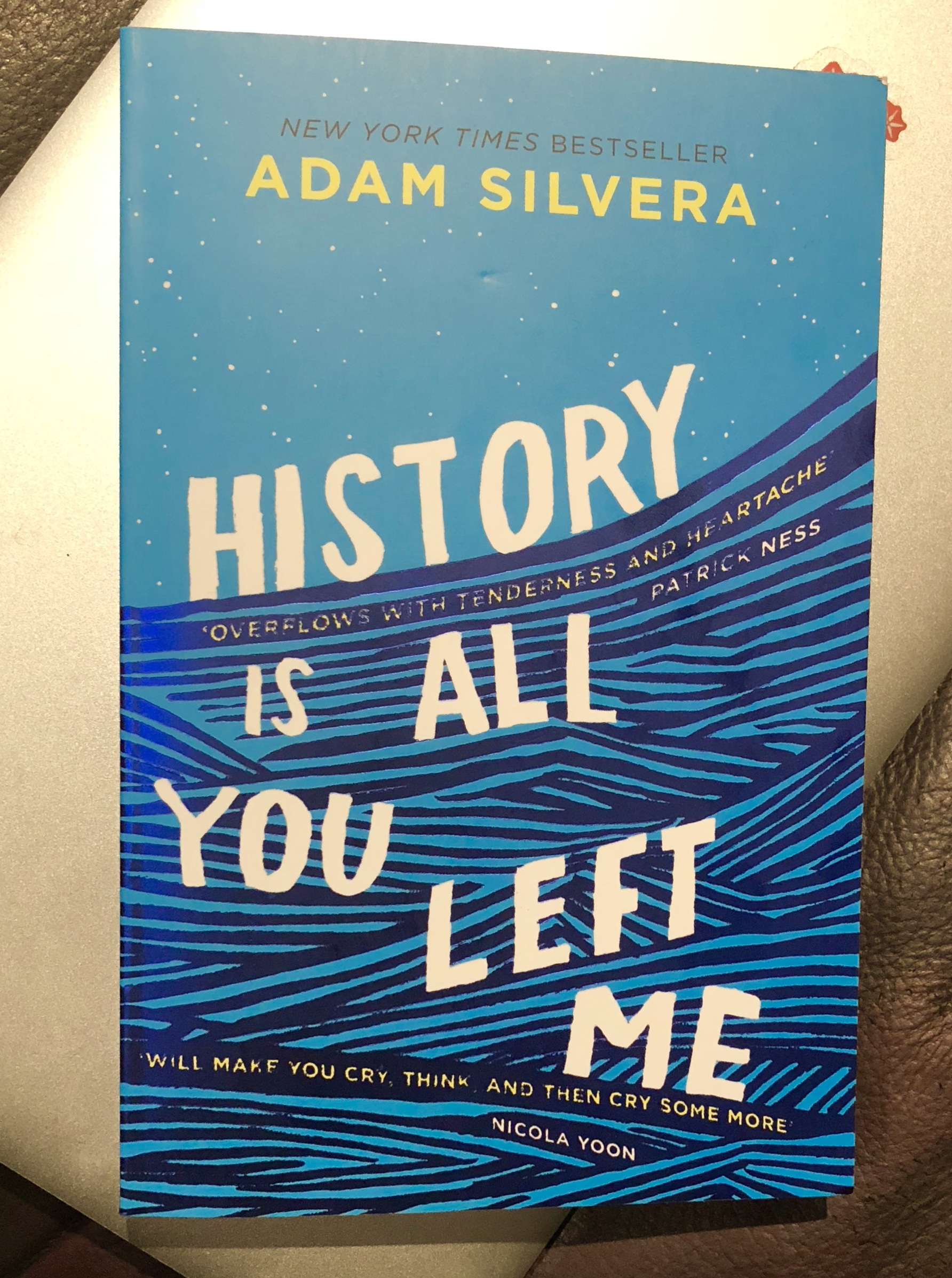 2018 Reading Challenge, Book 1, History is All You Left Me